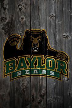 Baylor Bear iPhone Background