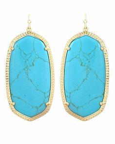 KENDRA SCOTT Danielle Earrings in Turquoise, $60.00, Sabi Boutique
