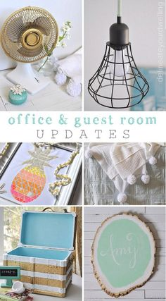 Quickly update your office space with fun and bright DIY accessories.