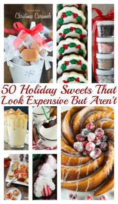 Budget friendly holiday desserts and sweets to make, give or share! Visit 100 days of Debt Free DIY Holiday Ideas for all our holiday inspiration!