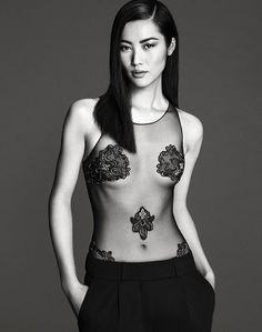 sexy topmodel Liu Wen in La Perla Lingerie