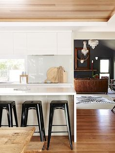 We Wood, Wood You? Tips for Accessorizing White Kitchens with Wood Accents on the Interior Collective
