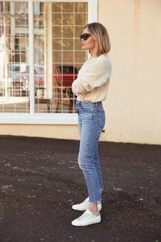 Brooke Testoni, Philippe Model Paris, Sneakers, Wynn Hamlyn knit, Levis jeans, MCM sunglasses, streetstyle, fashion, style, outfits