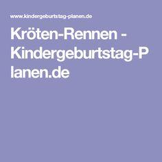 Kröten-Rennen - Kindergeburtstag-Planen.de