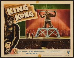 King Kong, 1933 (1956 re-release)  Original Vintage Lobby Card...Guaranteed Authentic for life at http://www.cvtreasures.com  $775