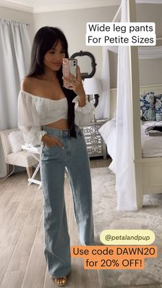 Street Beat, 20 Off, Summer Outfits Women, Petite Size, Palazzo, Wide Leg Pants, Boyfriend Jeans, My Outfit, Jumpsuits