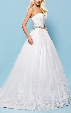 Sweetheart Chapel Train Lace And Tulle Wedding Dress