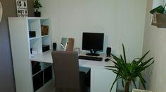 My new desk, made with 2 ikea kallax and 1 linnom top! ❤IKEA