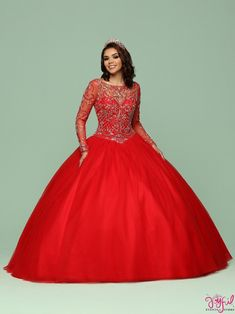 Magbridal Romantic Tulle Bateau Neckline Full Length Ball Gown Quinceanera Dress With Beadings Satin Tulle, Tulle Ball Gown, Ball Gowns, Quince Dresses, 15 Dresses, Wedding Dresses, Red Quinceanera Dresses, Quinceanera Party, Quinceanera Collection