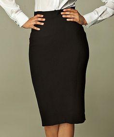 Look at this #zulilyfind! Black Classic Pencil Skirt #zulilyfinds