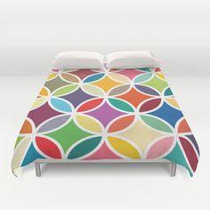 Geometric duvet cover, colourful duvet cover, duvet cover,modern duvet cover…