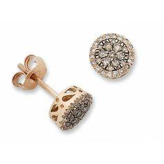 Cognac Diamond Earrings  #autumn #autumnfashion #diamonds #fashion