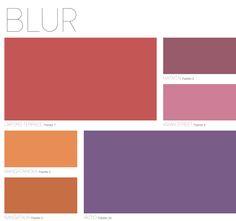 BLUR Palette from Dulux Colour Forecast 2013
