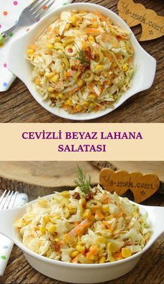 Cevizli Beyaz Lahana Salatası – Coleslaw salatası gibi lahana ile yapabileceğ… White Cabbage Salad with Walnuts – Coleslaw salad is one of the most beautiful salad recipes you can make with cabbage … Easy Salad Recipes, Easy Salads, Rice Recipes, Healthy Salads, Crab Stuffed Avocado, Cottage Cheese Salad, Coleslaw Salad, Salad Dishes, Seafood Salad
