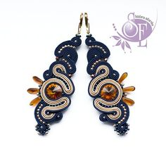 Sutasz - Kolczyki Tauri #193 #soutache #earrings