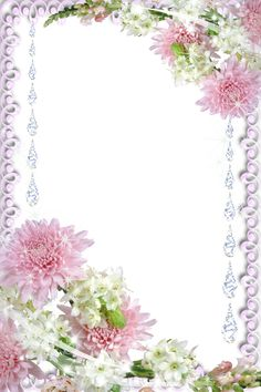 Real Flowers Transparent PNG Photo Frame