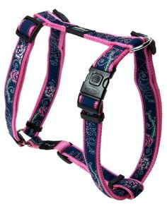 Rogz Fancy Dress Extra Large 1 Armed Response Adjustable Fashion Dog HHarness Denim Rose Design * Learn more by visiting the image link. #DogHarnesses