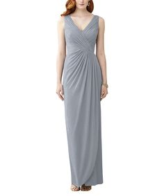 DescriptionDessy Style 2958Full length bridesmaid dressV-neck dressDraped bodiceLux chiffon