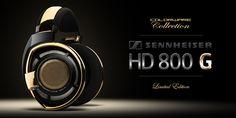 ColorWare Collection Sennheiser HD 800 G Headphones high-end audio audiophile Sennheiser Headphones, Gold Chrome, Beats By Dre, High End Audio, Audiophile, Over Ear Headphones, Headset, Tech, Collection
