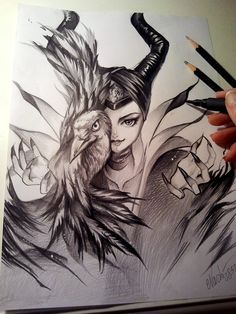Maleficent by Naschi on deviantART