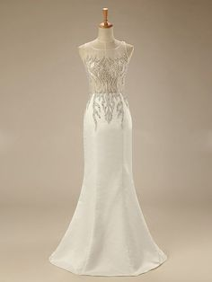 Elegant Scoop Evening ,Long Prom Dress,Mermaid Evening Gown,Formal Dress,JD 45