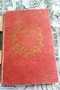 A Christmas Carol Book Antique Dickens Book Antique by mybonvivant