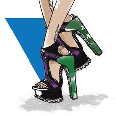 5 tendências de calçados para a primavera/verão 2018: esportivos Louboutin Pumps, Christian Louboutin, Shoes, Fashion, Bold Colors, Block Prints, Wish, Women's Work Fashion, Trends