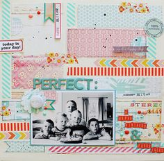 Love the colors and the washi tape.