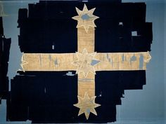 The most potent symbol of Australia's only rebellion, the Eureka Stockade, is the blue and white Southern Cross flag. What do we know about the women who supposedly stitched the flag in one day under the cover of darkness? Australia Day, Victoria Australia, Melbourne Australia, Eureka Flag, Eureka Stockade, Aboriginal History, Gold Miners, Historical Images, National Museum