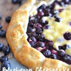 Blueberry Cheesecake Galette-would be good with cranberry and orange