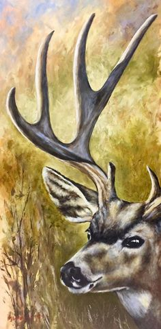Muley x oil Oil Paintings, Moose Art, Animals, Animales, Animaux, Animal, Oil On Canvas, Animais, Art Oil