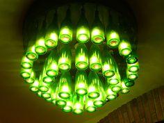 bottle chandelier | Wine Bottle Chandelier-esque light | Flickr - Photo Sharing!