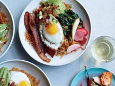 Bacon Fried Rice with Avocado and Fried Eggs Recipe - Ed Kenney | Food & Wine