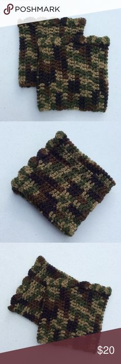 """Camouflage boot cuffs Length:~6.25"""".  Circumference:~12"""".  100% acrylic. Accessories Hosiery & Socks"""