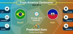 Who will win today #Haiti or #Brazil ?  Predict at http://pgur.in/uqwa6x  #CA2016 #BRAvHAI #Football