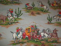 Original cowboy bedspread