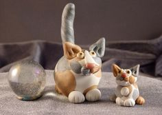 Hey, I found this really awesome Etsy listing at https://www.etsy.com/listing/228226713/marblemini-mothers-day-dilute-calico-cat