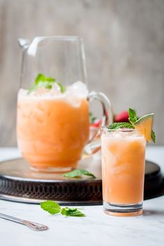 Melon and Strawberry Agua Fresca