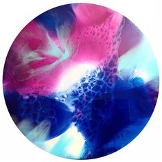 Resin art. 100cm round acrylic and resin by HelloSundayDesigns