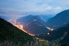 Martigny lights, Switzerland