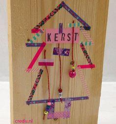 Credu.nl - Kerstboom gemaakt met masking-tape