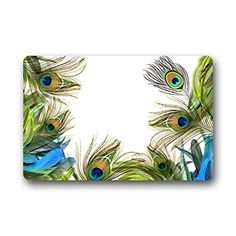 "Gorgeous Fascinating Peacock Feathers Art Design colorful Beautiful Peacock Doormat Mat 23.6""(L) x 15.7""(W) The Peacock http://www.amazon.com/dp/B00NYNVYVO/ref=cm_sw_r_pi_dp_le3uub15FKGM2"