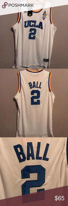 e015ed7d6 NWT Adidas Lonzo Ball 2XL XXL UCLA Jersey New Lonzo Ball UCLA #2 jersey in