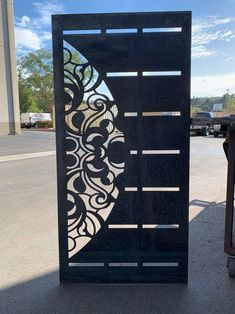 Contemporary Modern Metal Gatemodern Metal Gate Custom Etsy In 2020 Metal Doors Design Front Gate Design Metal Gates Design