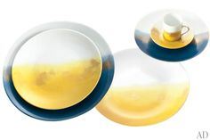 Marie Daâge's Horizon collection of hand-painted Limoges porcelain.