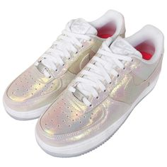 NIKE AIR WMNS FORCE 1 LOW IRIDESCENT PEARL WHITE QS 704517 100 $175