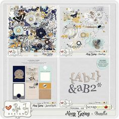 Keep Going - Bundle by Red Ivy Design. The Bundle includes the Kit, Journal Cards, Alphas and Overlays at 36% off. Also available in separate packs at 20% off each. Available at Scrap Orchard
