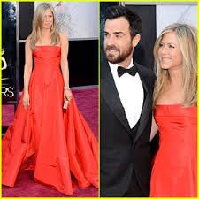 Oscars 2013 - Jennifer Aniston with husband Justin Theroux