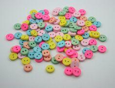 120 pcs.Tiny Buttons Round 2 Holes Mix Colour Decorations Findings 9 mm. JBT92 £2.34 P/0.67