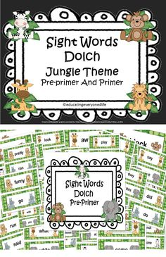 Word Wall: Jungle Theme Dolch Sight Words- Great for the reading classroom and for teaching students sight words. Jungle Theme Classroom, Classroom Layout, Classroom Themes, Literacy Activities, Teaching Resources, Teaching Ideas, Learn To Read English, Common Core Education, Reading Tutoring